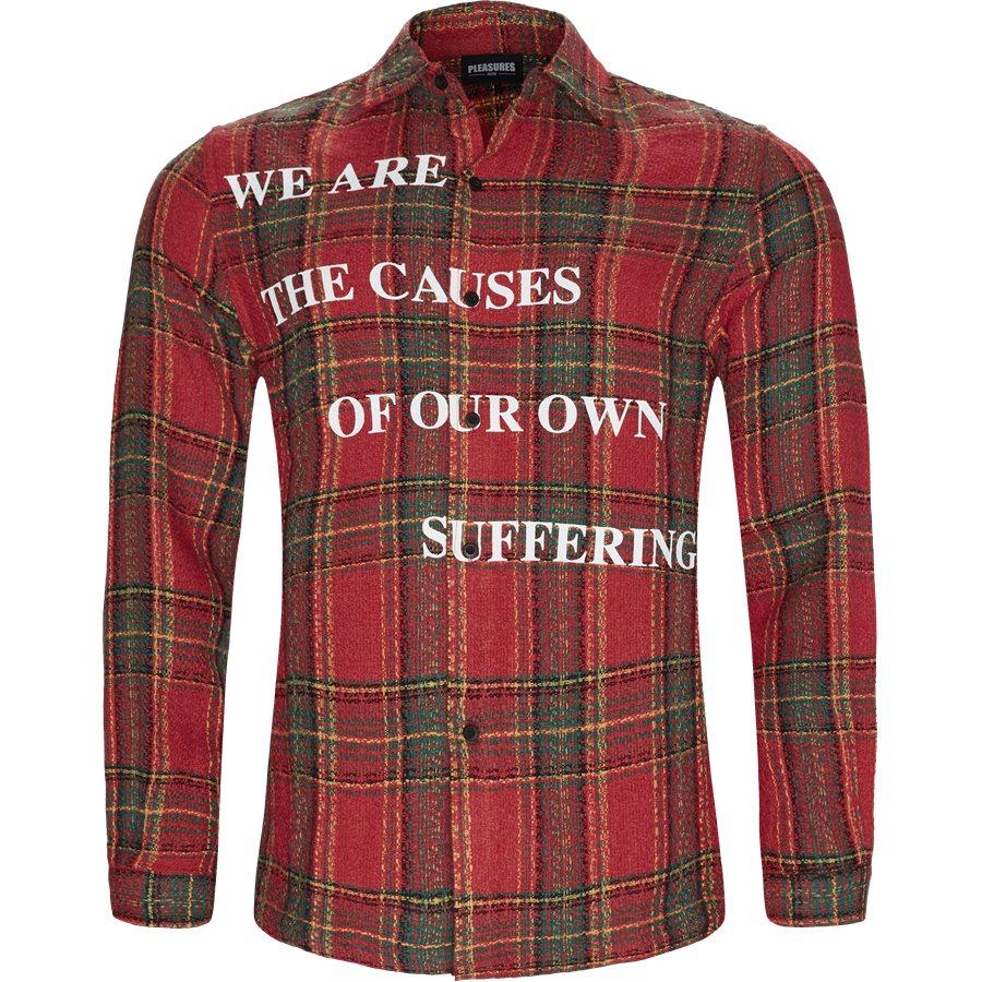 SUFFERING BUTTON UP - Suffering Button Up Skjorte - Skjorter - Regular - RØD - 1