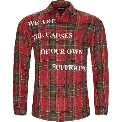 Suffering Button Up Skjorte Regular | Suffering Button Up Skjorte | Rød