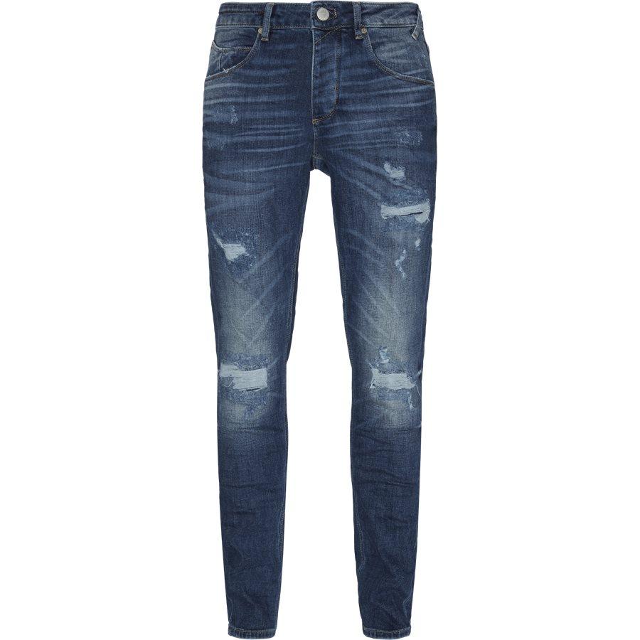 REY K1019 DESTROY RS1105 - Rey Jeans - Jeans - Regular - BLÅ - 1
