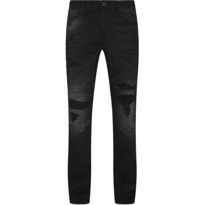 Tapered fit | Jeans | Svart
