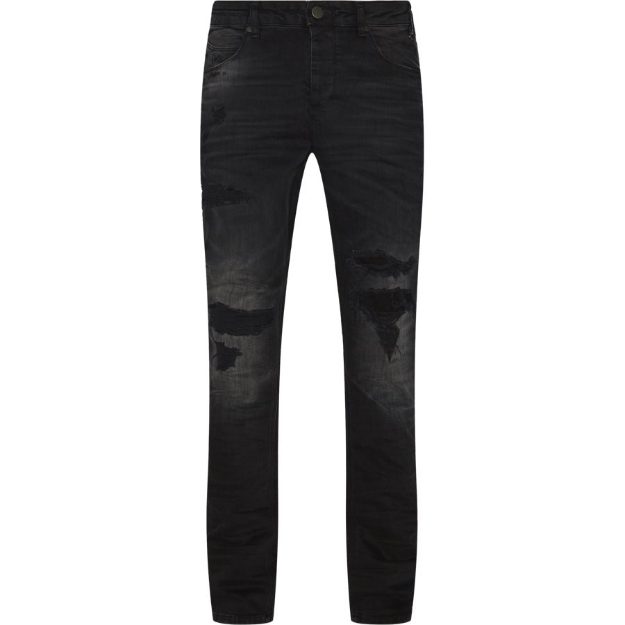 REY K0405 BUSTED RS1091 - Rey Jeans - Jeans - Tapered fit - SORT - 1