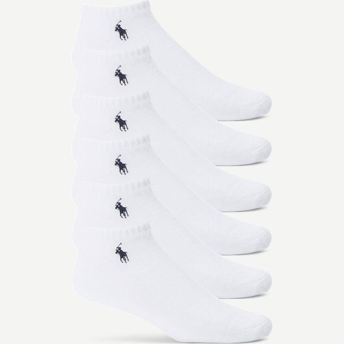 6-Pack Classic Sport Half Socks - Strømper - Regular - Hvid