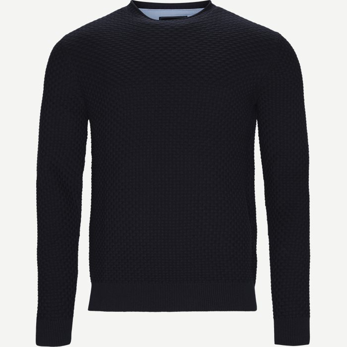 Crew Neck Strik - Strik - Regular - Blå