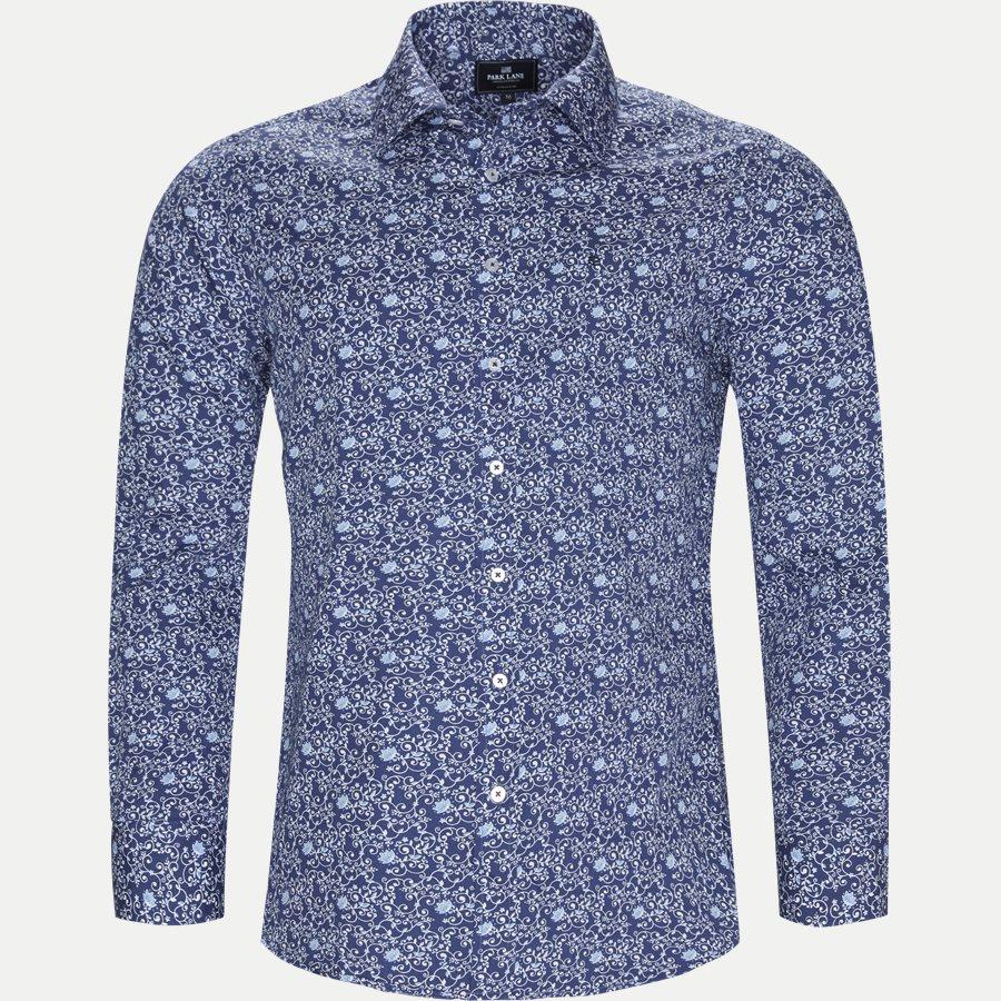 8031-8811 - Blomstret Skjorte - Skjorter - Slim - BLÅ - 1