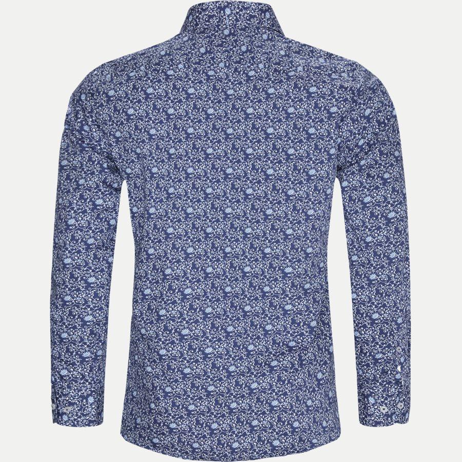 8031-8811 - Blomstret Skjorte - Skjorter - Slim - BLÅ - 2