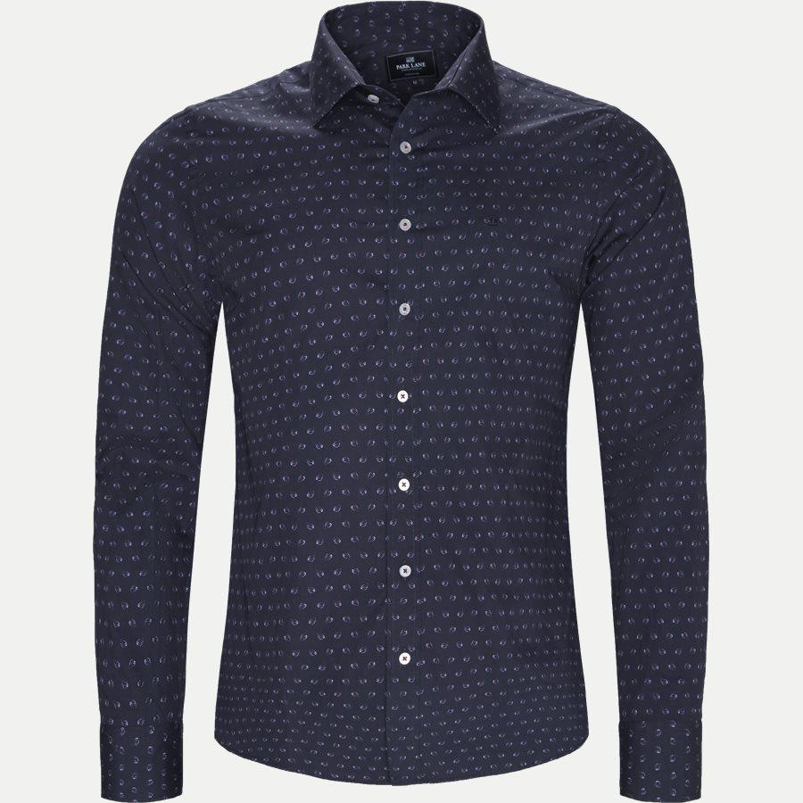 8033-8811 - Mønstret Skjorte - Skjorter - Regular - NAVY - 1