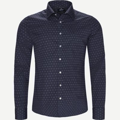 Mønstret Skjorte Slim | Mønstret Skjorte | Blå