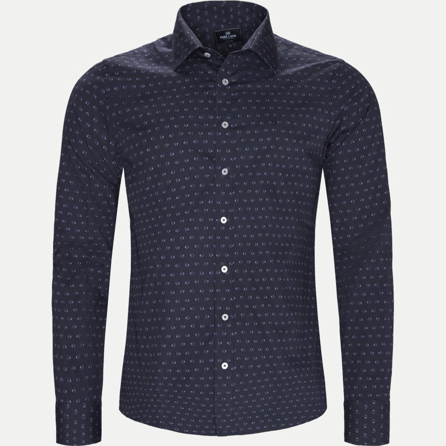 8033-8811 - Mønstret Skjorte - Skjorter - Slim - NAVY - 1