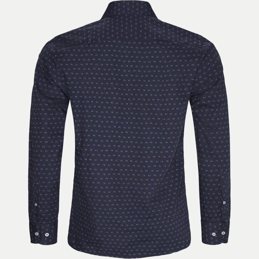 8033-8811 - Mønstret Skjorte - Skjorter - Slim - NAVY - 2