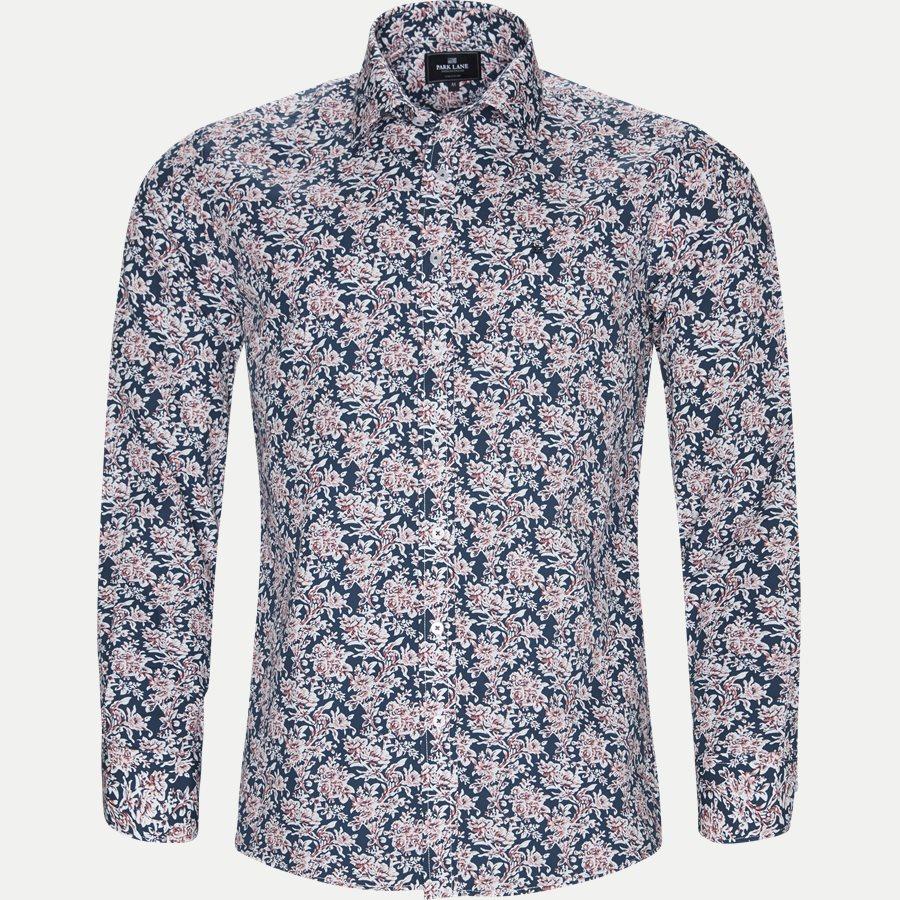 8039-8811 - Blomstret Skjorte - Skjorter - Regular - NAVY - 1
