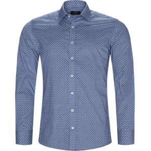 Blomstret Skjorte Regular | Blomstret Skjorte | Blå
