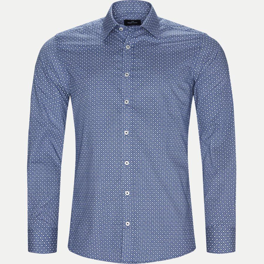 8035-8811 - Blomstret Skjorte - Skjorter - Slim - BLÅ - 1