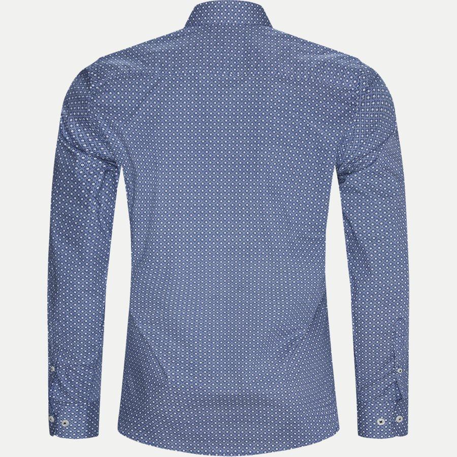 8035-8811 - Blomstret Skjorte - Skjorter - Slim - BLÅ - 2