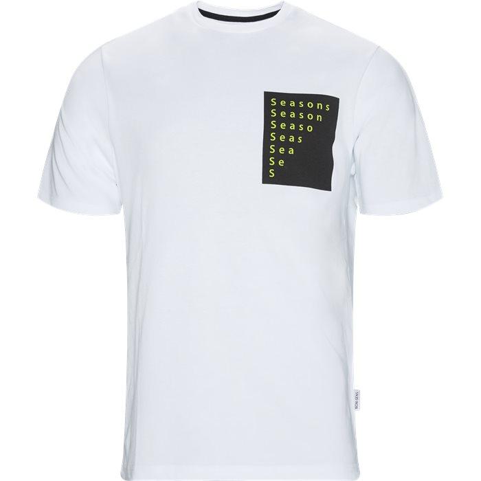 Cumber - T-shirts - Regular fit - Hvid