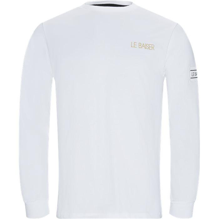Bigoore Langærmet T-shirt - T-shirts - Regular - Hvid