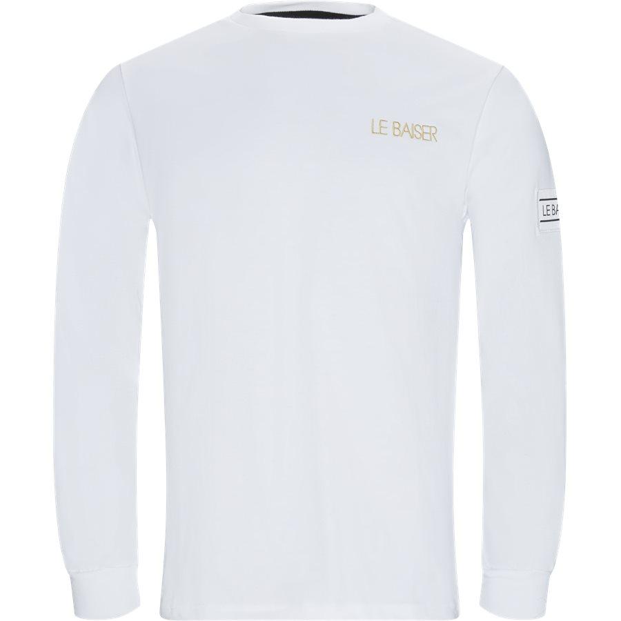 BIGOORE - Bigoore Langærmet T-shirt - T-shirts - Regular - WHITE - 1