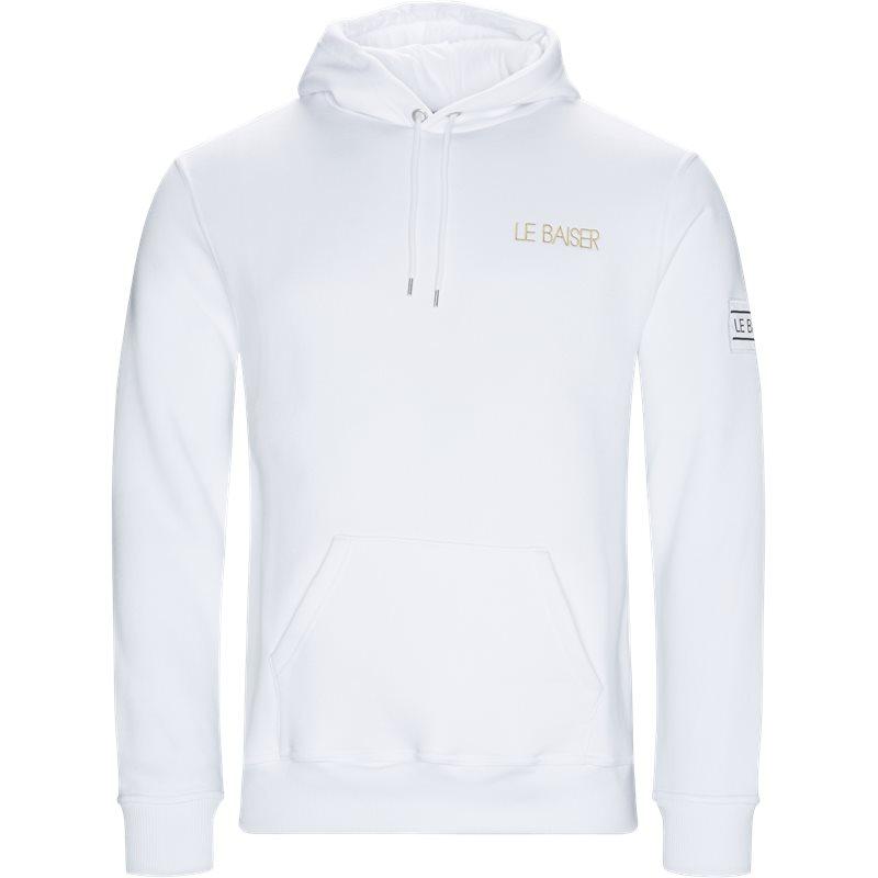 le baiser Le baiser loudes hoodie white fra quint.dk