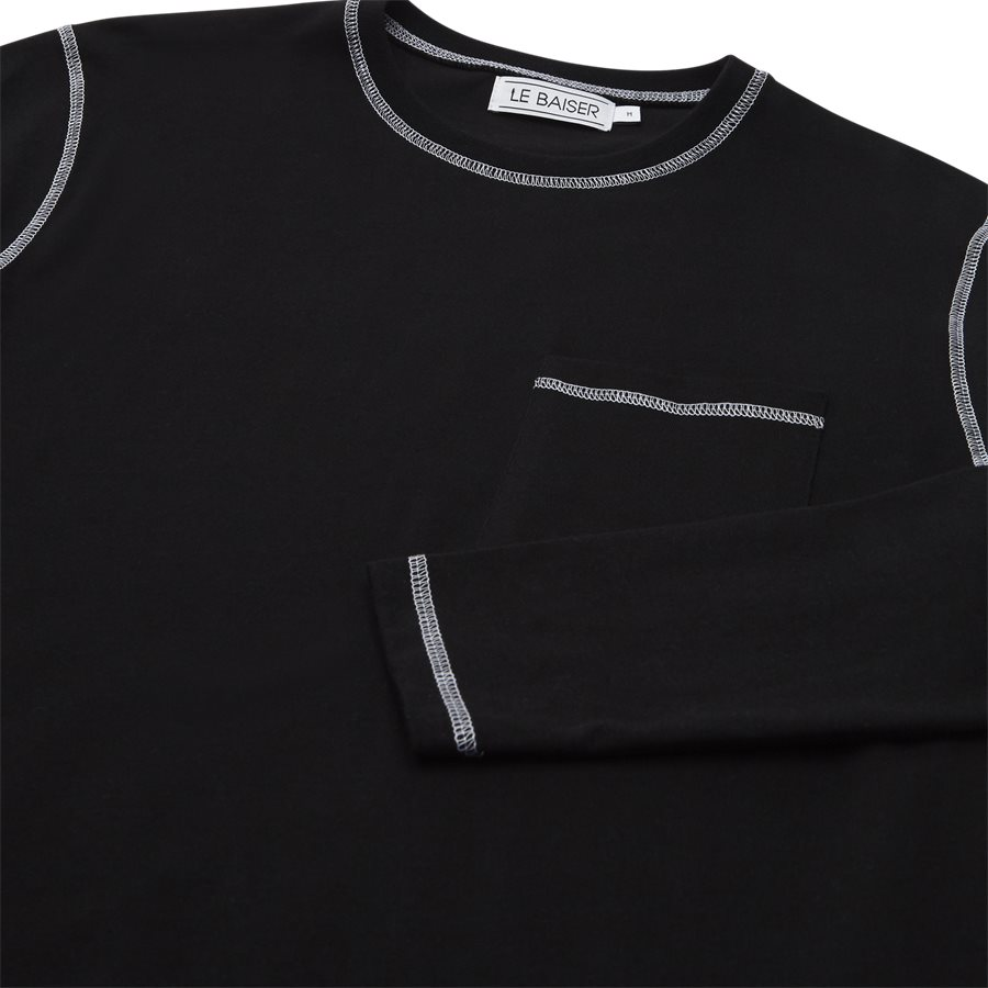 BLANC - Blanc - T-shirts - Regular fit - BLACK - 3