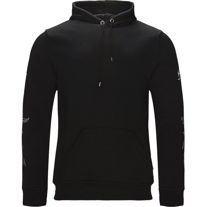 Hefner - Sweatshirts - Regular fit - Sort