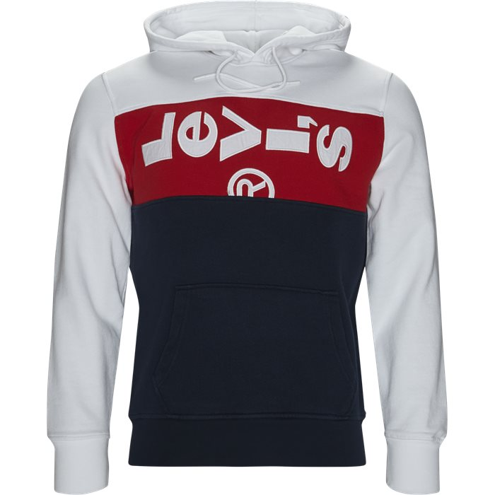 L Tab Panel Hoodie  - Sweatshirts - Regular - Blå