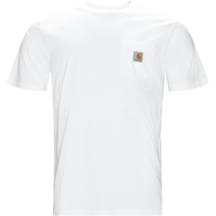 S/S Pocket Tee - T-shirts - Regular fit - Hvid