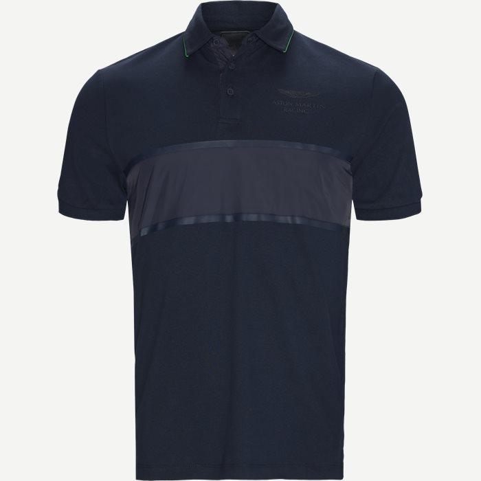 AMR Tonal Panel Polo T-shirt - T-shirts - Slim - Blå
