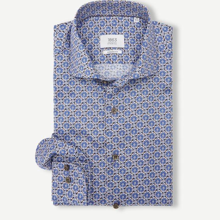Skjortor - Modern fit - Brun