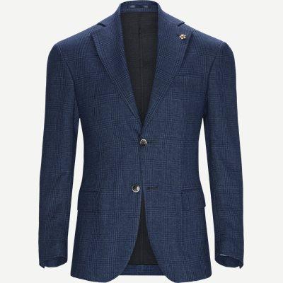 Glencheck Jersey Jacket Regular | Glencheck Jersey Jacket | Blå
