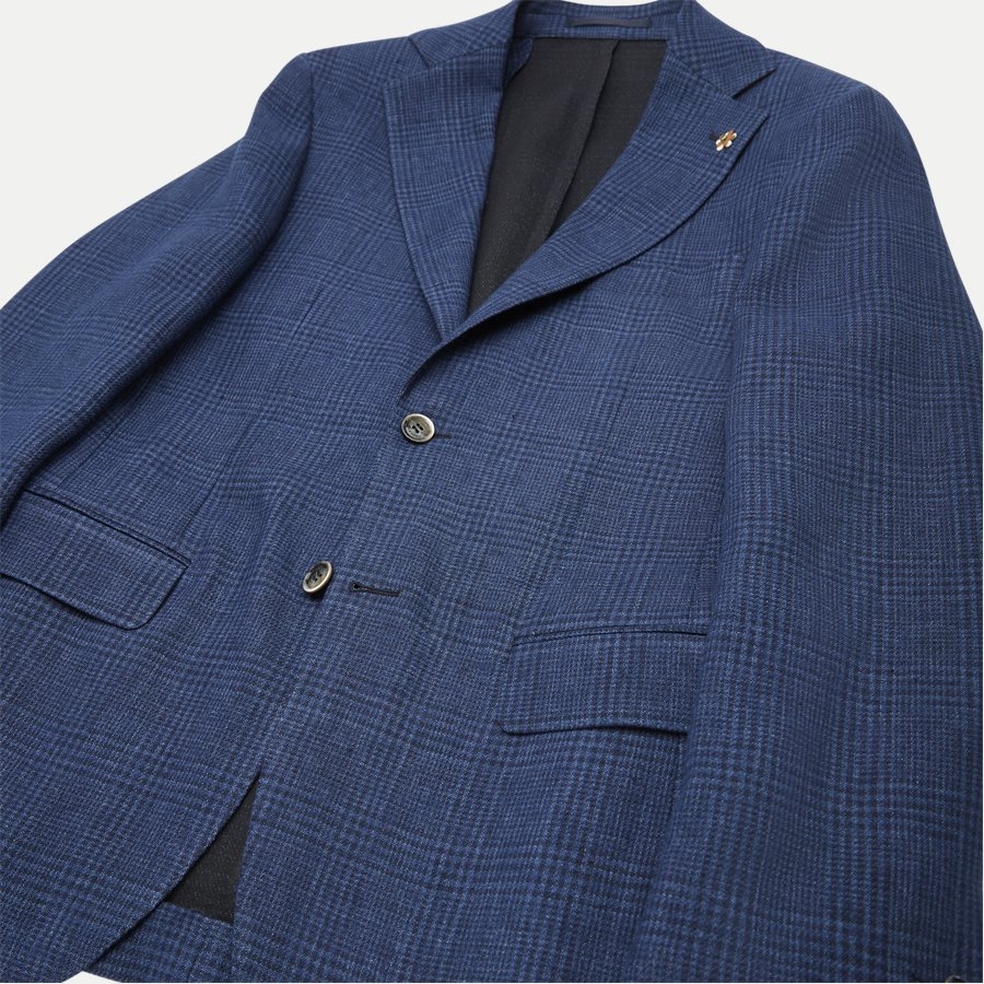 04707 GLENCHECK JERSEY JACKET - Glencheck Jersey Jacket - Jakker - Regular - NAVY - 6