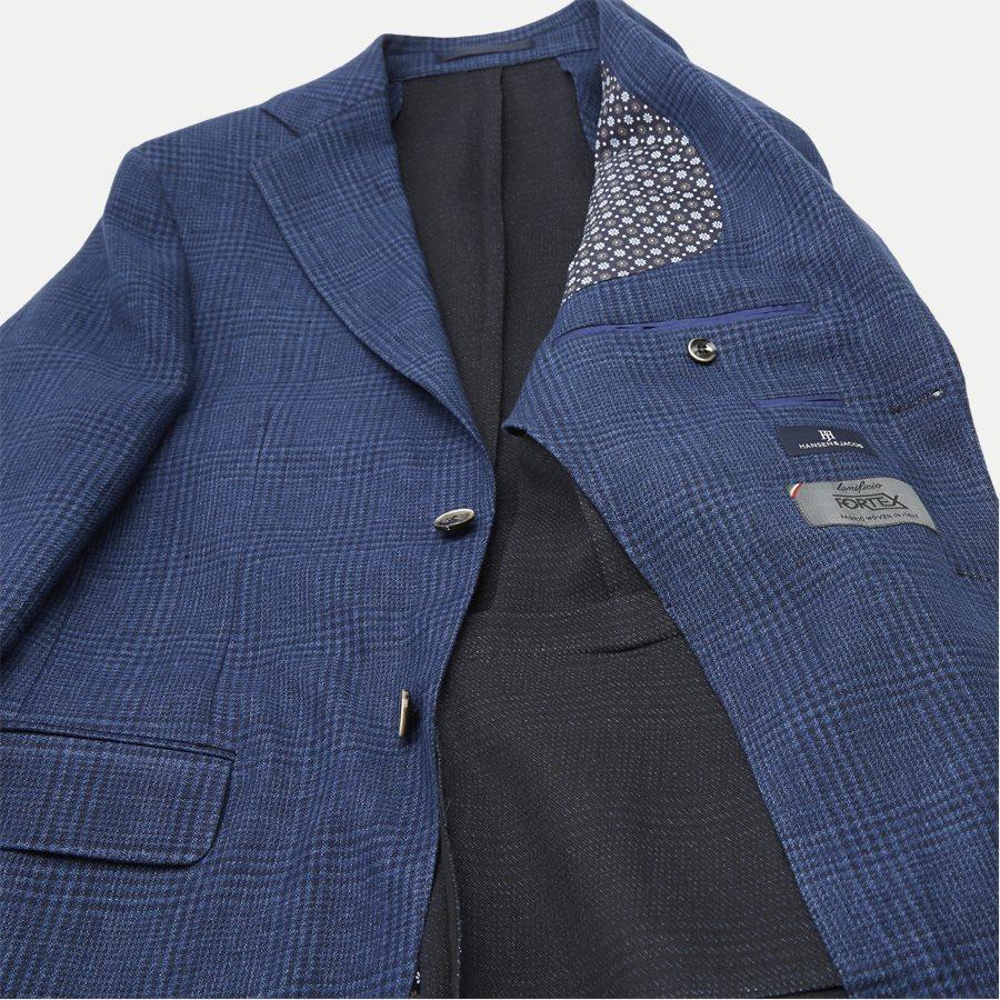 04707 GLENCHECK JERSEY JACKET - Glencheck Jersey Jacket - Jakker - Regular - NAVY - 8