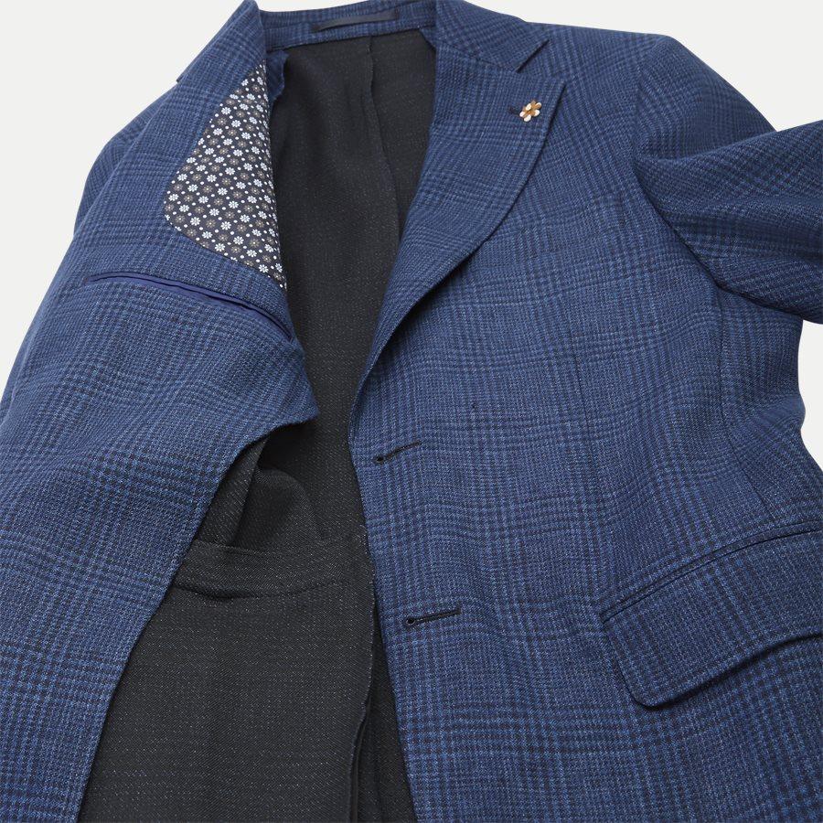 04707 GLENCHECK JERSEY JACKET - Glencheck Jersey Jacket - Jakker - Regular - NAVY - 9