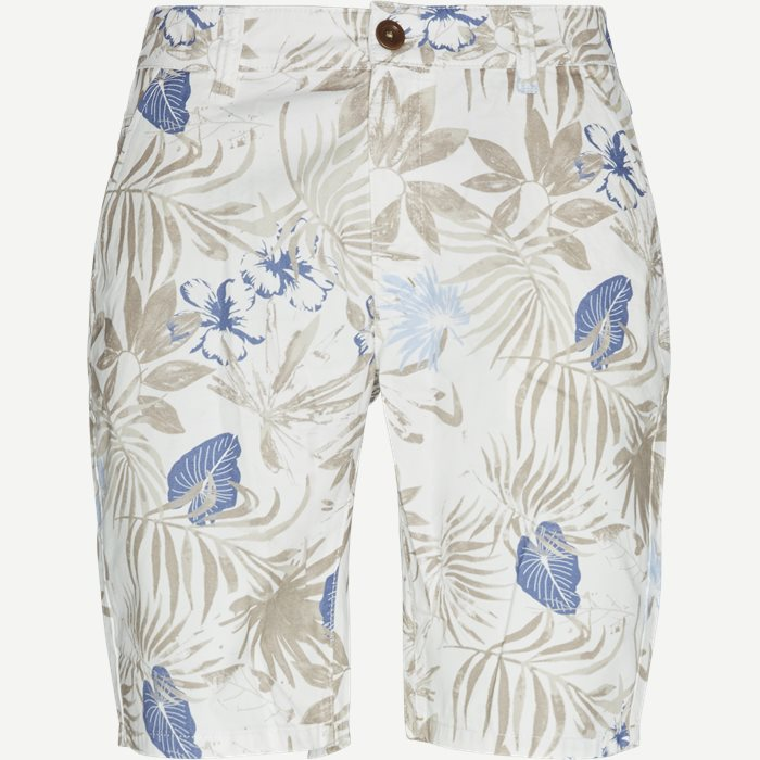 Flower Shorts - Shorts - Regular - Hvid
