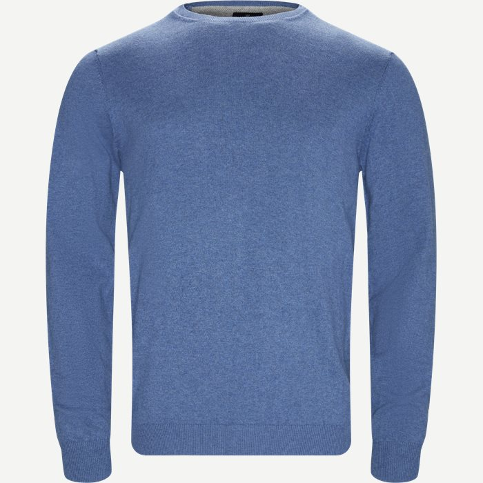 Crewneck Cashmere Blend Sweater  - Strik - Regular - Blå