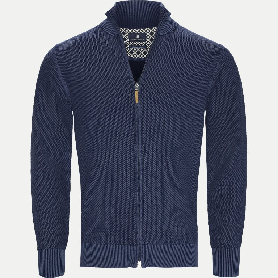 04629 FULL ZIP VINTAGE CARDIGAN - Full Zip Vintage Cardigan - Strik - Regular - NAVY - 1