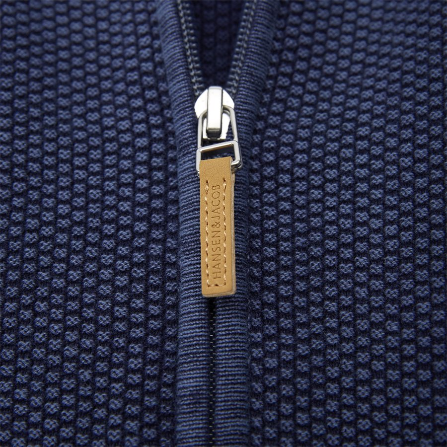 04629 FULL ZIP VINTAGE CARDIGAN - Full Zip Vintage Cardigan - Strik - Regular - NAVY - 4