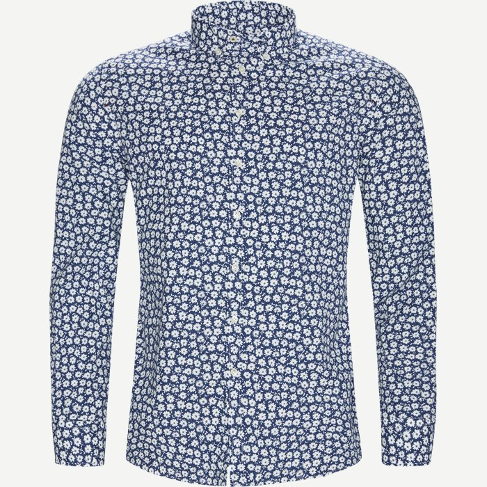 Shirt Blue Flower - Skjorter - Casual fit - Blå