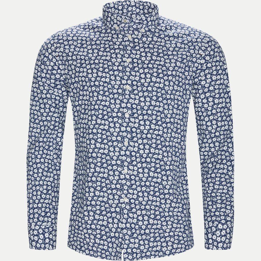 04662 SHIRT, BLUE FLOWER - Shirt Blue Flower - Skjorter - Casual fit - LYSBLÅ - 1