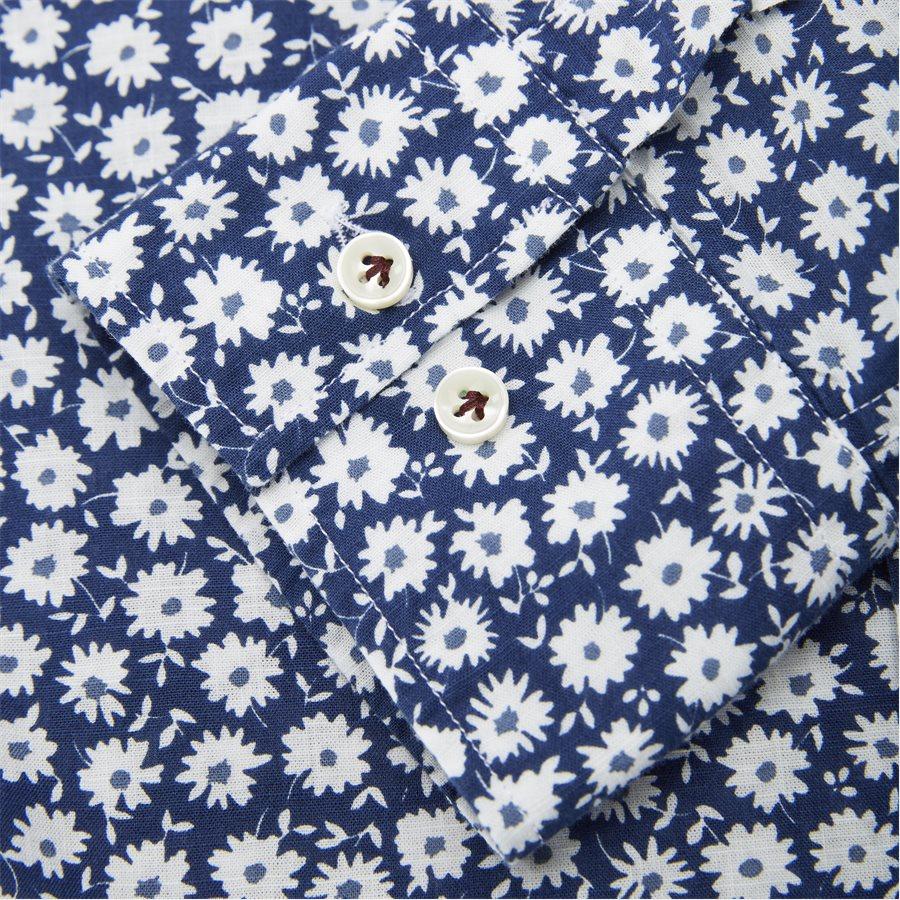 04662 SHIRT, BLUE FLOWER - Shirt Blue Flower - Skjorter - Casual fit - LYSBLÅ - 6
