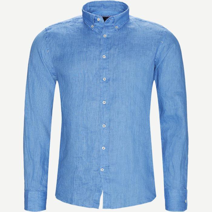 Shirt Glow Linen  - Skjorter - Casual fit - Blå