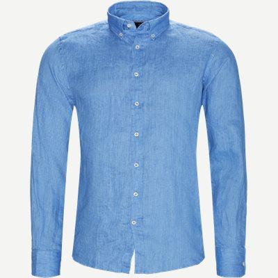 Shirt Glow Linen  Casual fit | Shirt Glow Linen  | Blå