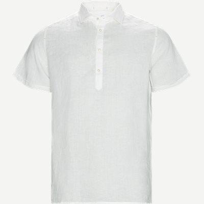 Short Sleeve Linen Shirt Regular | Short Sleeve Linen Shirt | Hvid