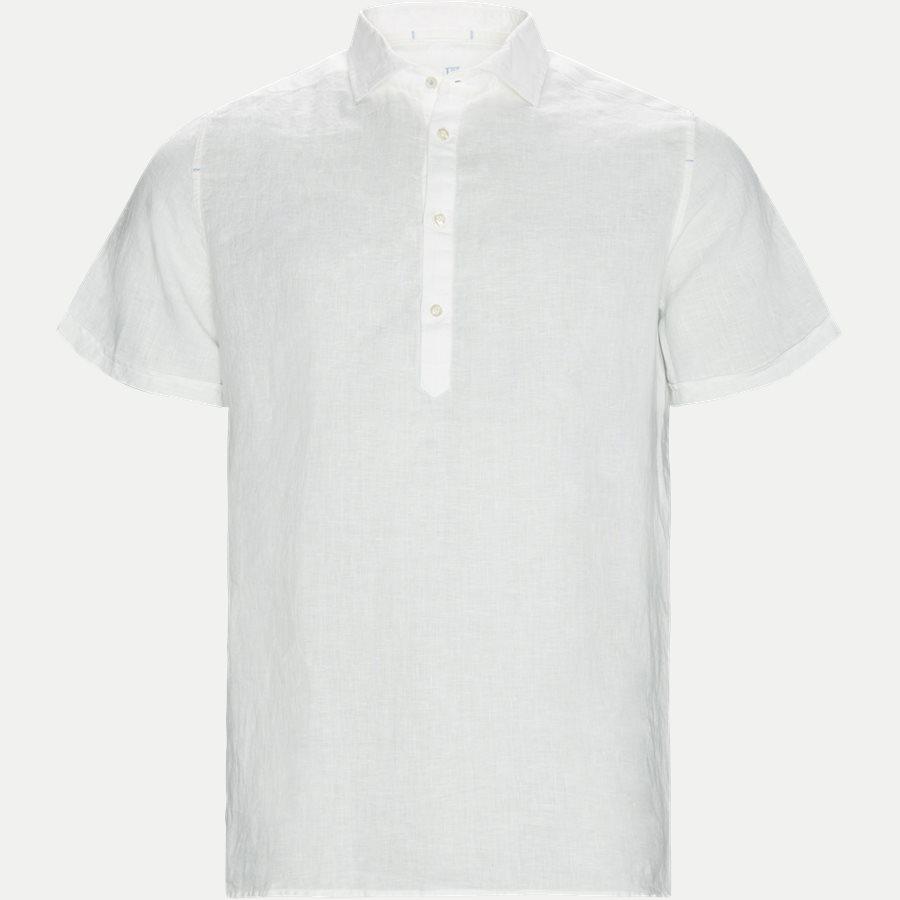 04640 SHORT SLEEVE LINEN SHIRT - Short Sleeve Linen Shirt - Skjorter - Regular - HVID - 1