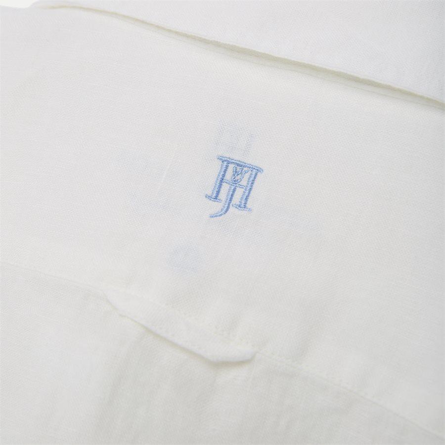 04640 SHORT SLEEVE LINEN SHIRT - Short Sleeve Linen Shirt - Skjorter - Regular - HVID - 3