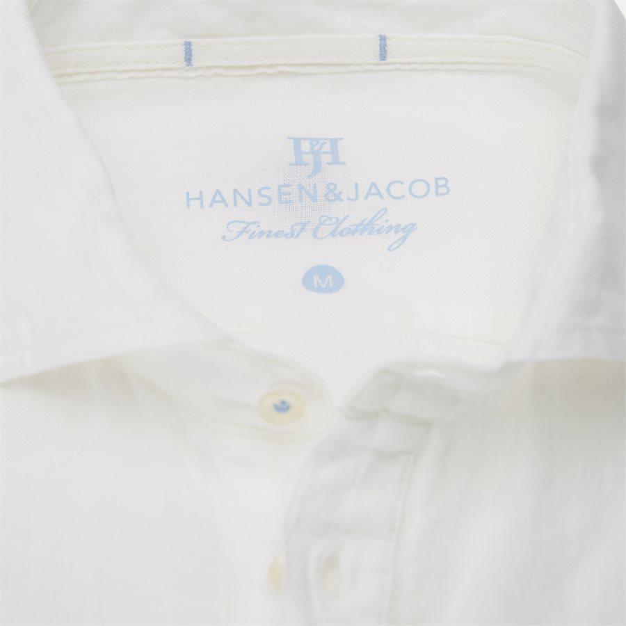 04640 SHORT SLEEVE LINEN SHIRT - Short Sleeve Linen Shirt - Skjorter - Regular - HVID - 4
