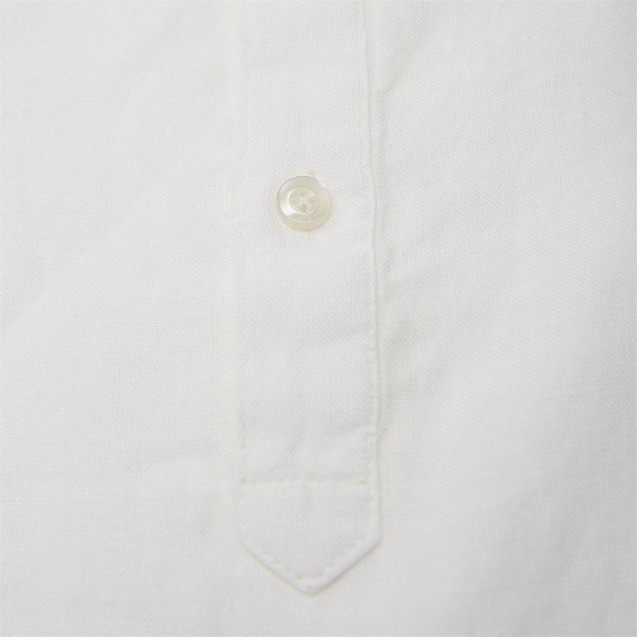 04640 SHORT SLEEVE LINEN SHIRT - Short Sleeve Linen Shirt - Skjorter - Regular - HVID - 5