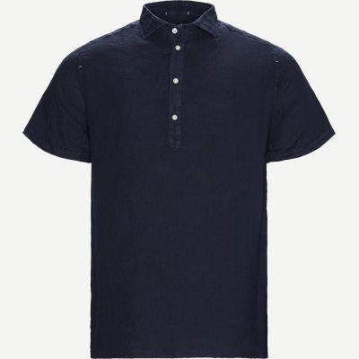 Short Sleeve Linen Shirt Regular | Short Sleeve Linen Shirt | Blå