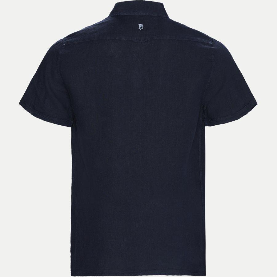 04640 SHORT SLEEVE LINEN SHIRT - Short Sleeve Linen Shirt - Skjorter - Regular - NAVY - 2