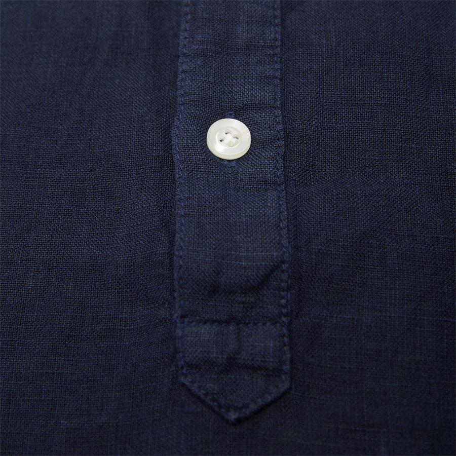 04640 SHORT SLEEVE LINEN SHIRT - Short Sleeve Linen Shirt - Skjorter - Regular - NAVY - 3