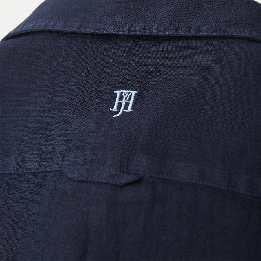 04640 SHORT SLEEVE LINEN SHIRT - Short Sleeve Linen Shirt - Skjorter - Regular - NAVY - 4