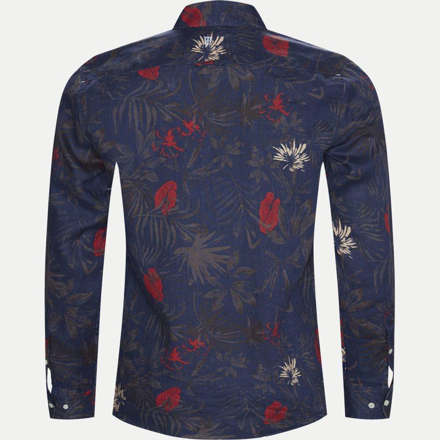 04643 SUMMER PRINT LINEN SHIRT - Summer Print Linen Shirt - Skjorter - Casual fit - NAVY - 2